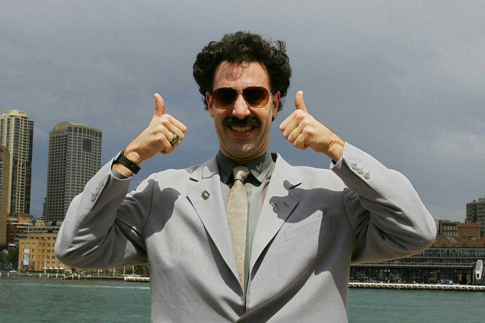 Kasakar hafa nú sæst við Borat og nýta hann í …