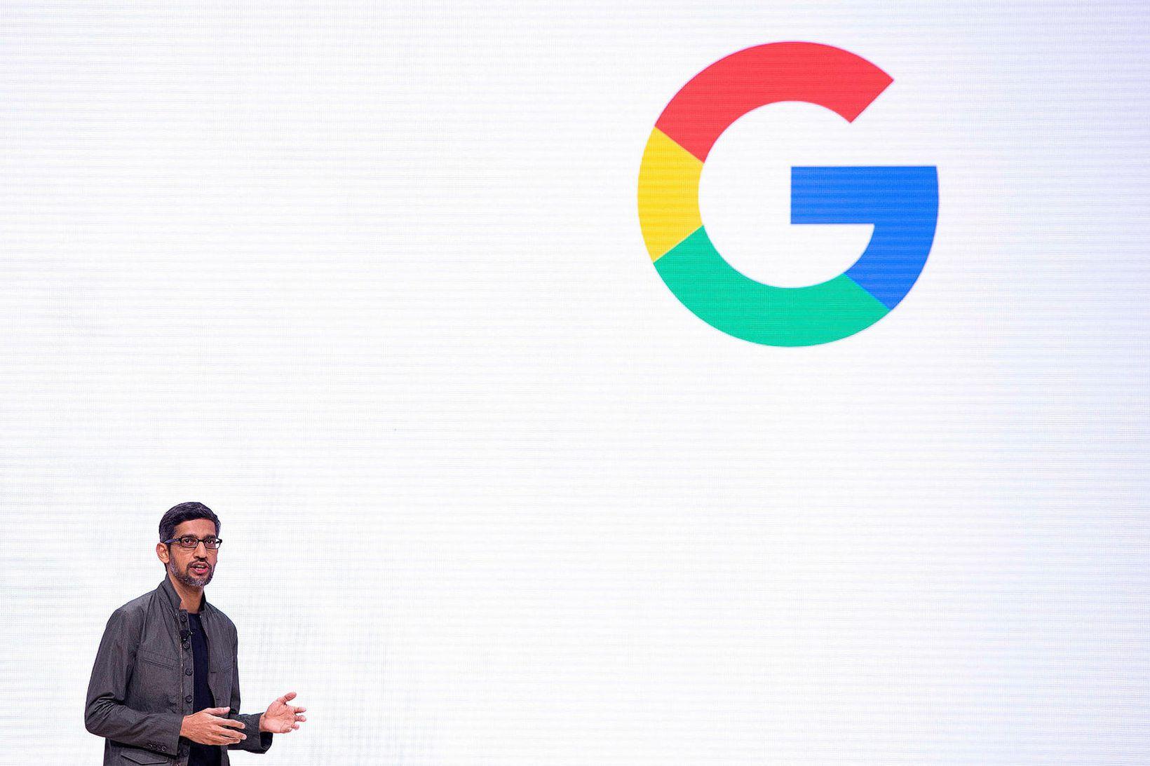 Sundar Pichai, forstjóri Google, segir fyrirtækið hyggjast leggja sitt af …