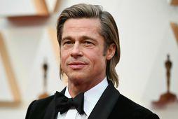 Brad Pitt byrjaði nýja árið í frí á Turks- og Caicoseyjum.
