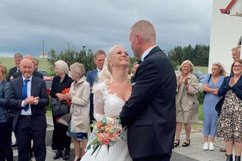 Heiða Ólafsdóttir og Helgi Páll Helgason gengu í það heilaga á laugardag.