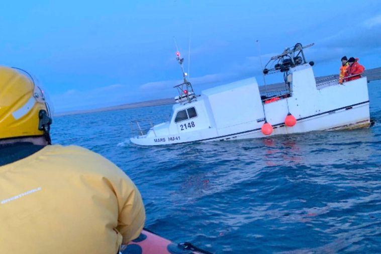 A stranded boat, near Hvammstangi, Northwest Iceland, last spring.