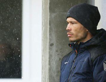 Ray Anthony Jónsson, þjálfari Grindavíkur, á Hásteinsvelli í dag.