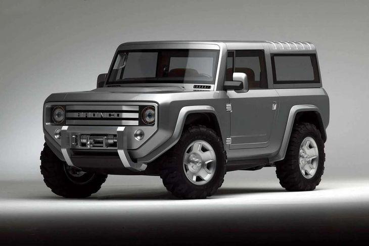 Ford sýndi 2004 nýjan Bronco prófunarbíl.