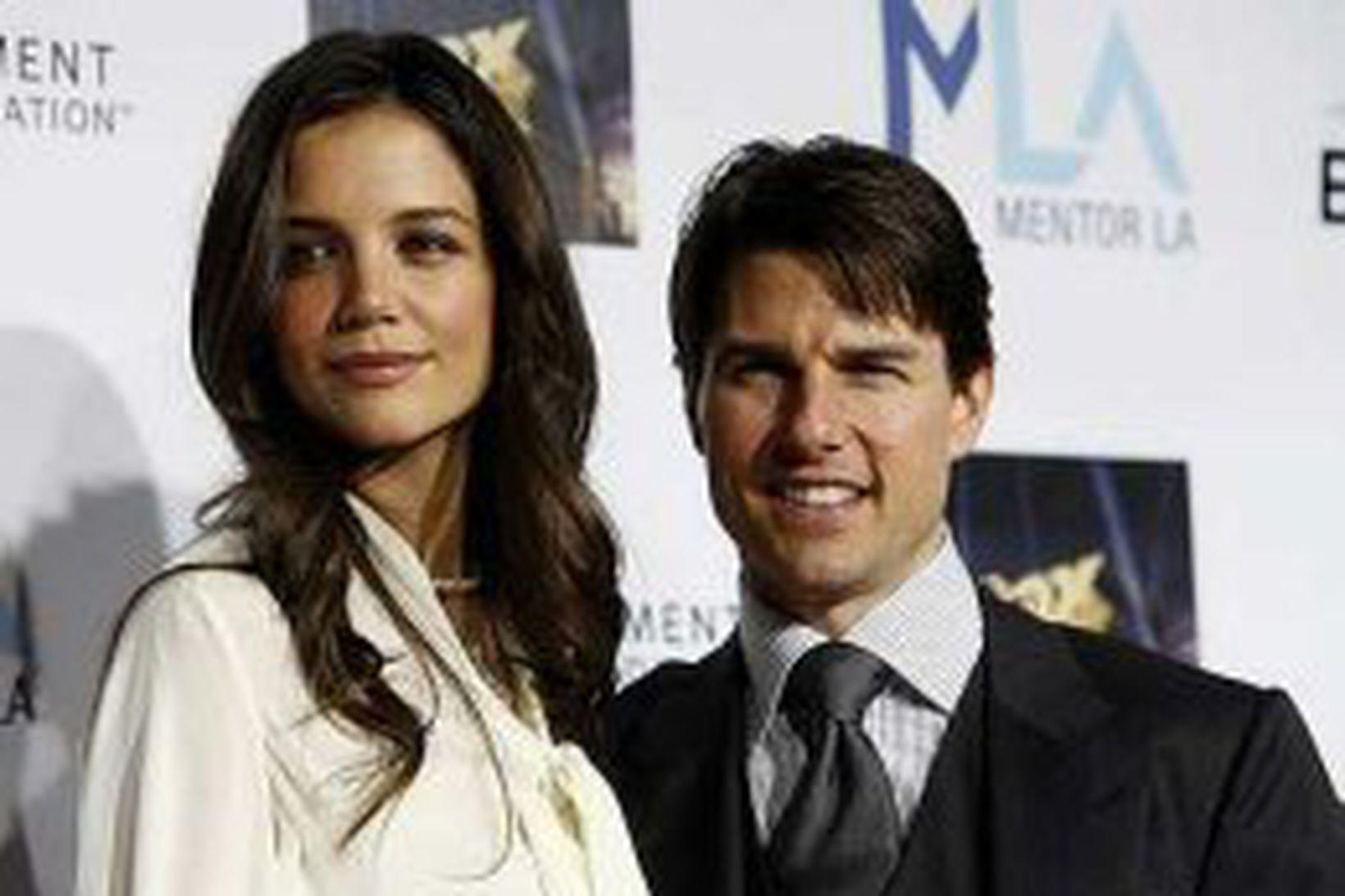Hjónakornin Tom Cruise og Katie Holmes.