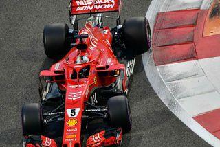 Sebastian Vettel í lokamótinu 2018, í Abu Dhabi.