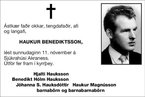 Haukur Benediktsson,