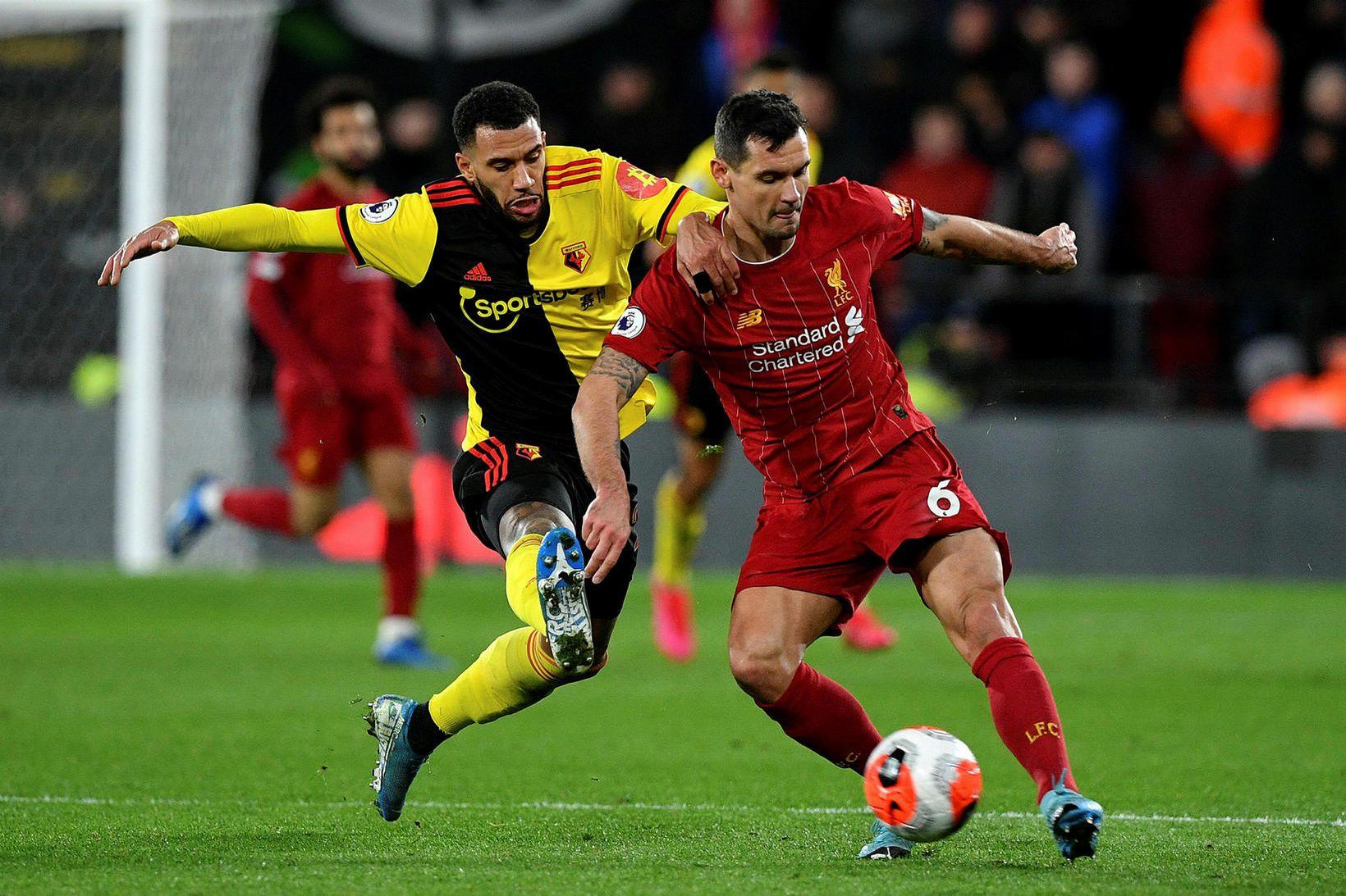 Dejan Lovren í leik með Liverpool gegn Watford í vetur.