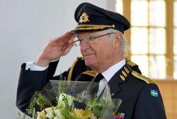 Karl Gústaf fagnaði 75 ára afmælinu í konungshöllinni í Stokkhólmi.
