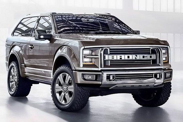 Þannig sér einn hugmyndasmiðurinn hinn nýja Ford Bronco fyrir sér. Á grillinu má sjá hver ...