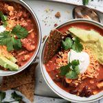 Geggjuð taco-súpa með heimagerðu nachos