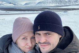 Matthias and Inna Piwowonski voru á Íslandi í mars.