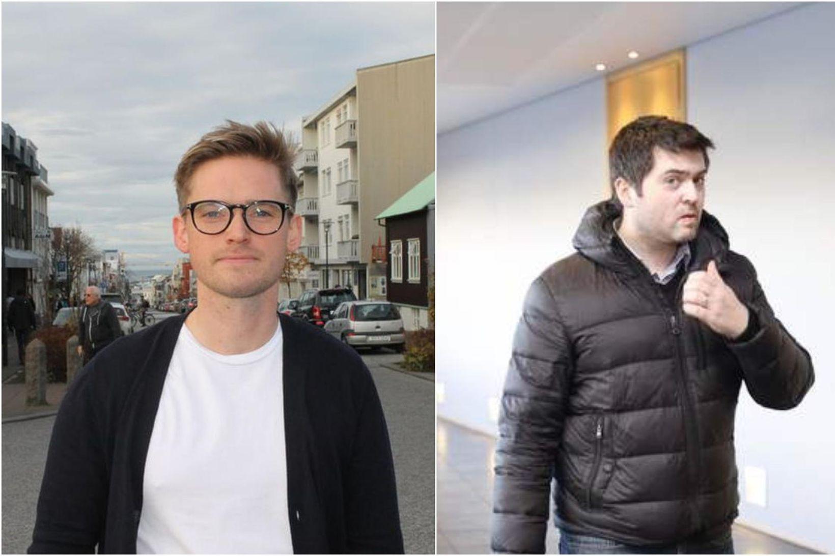 Bræðurnir Ágúst Arnar Ágústsson (t.v.) og Einar Ágústsson.