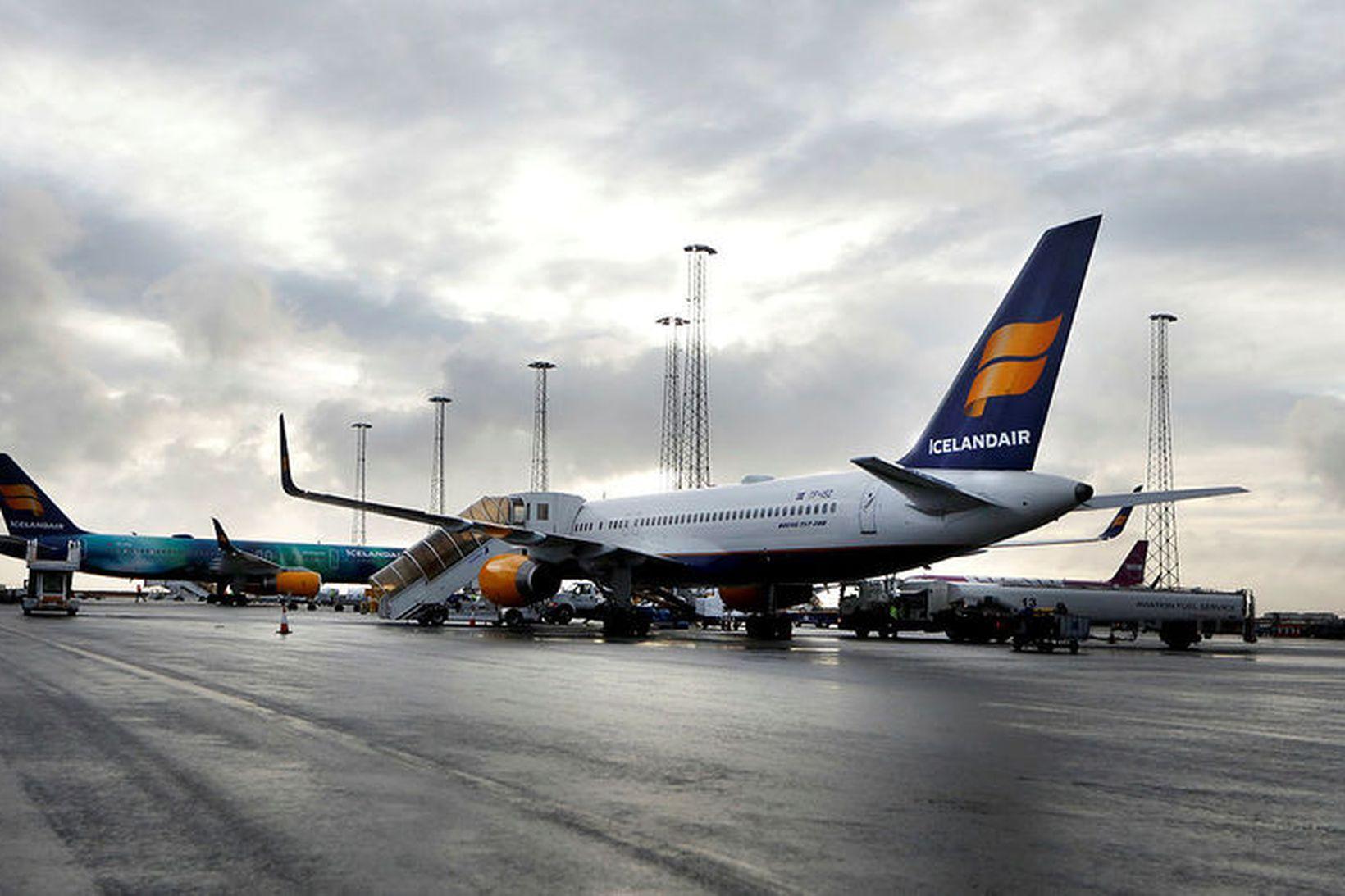 Bilun varð í vél Icelandair á leið til Arlanda-flugvallar í …
