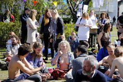 Geirvörturnar voru einnig frelsaðar á sérstökum #FreeTheNipple degi í júní.