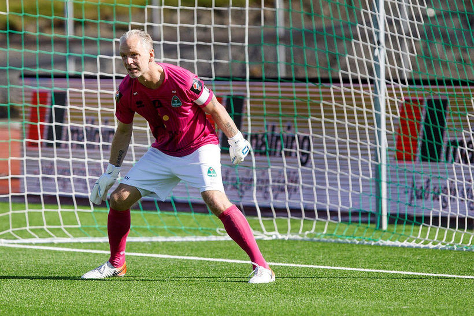 Gunnleifur Gunnleifsson í metleiknum gegn FH í dag.
