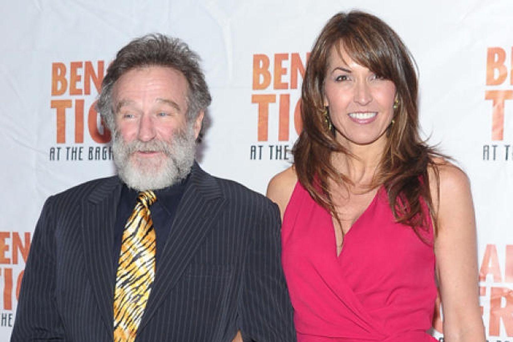 Robin Williams og eiginkona hans Susan Schneider Williams.