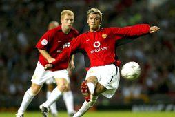 Spyrnutækni Beckhams var rómuð.