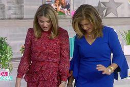 Jenna Bush Hager og Hoda Kotb vigtuðu sig í beinni.