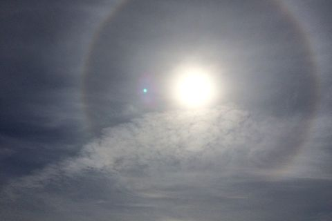 The 22° halo is an optical phenomenon.