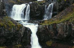 Klifbrekkufossar waterfalls.