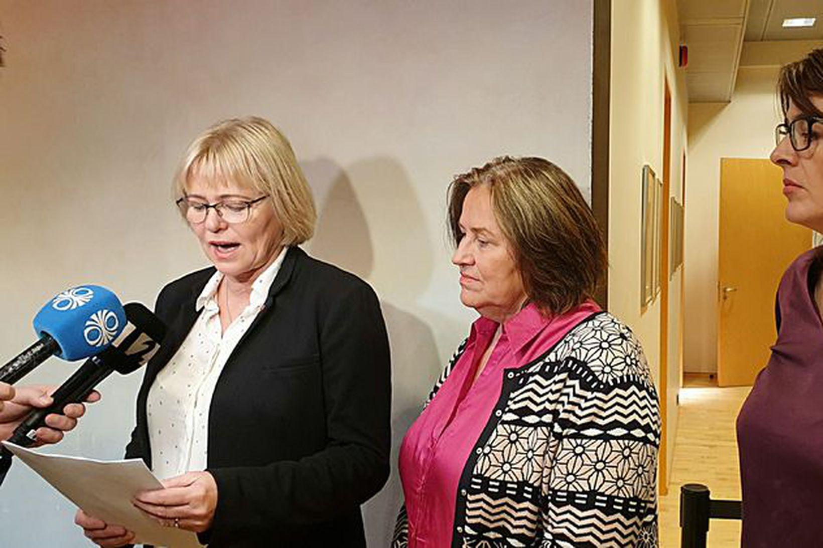 Oddný G. Harðardóttir, þingmaður Samfylkingarinnar, Inga Sæland, formaður Flokks fólksins, …