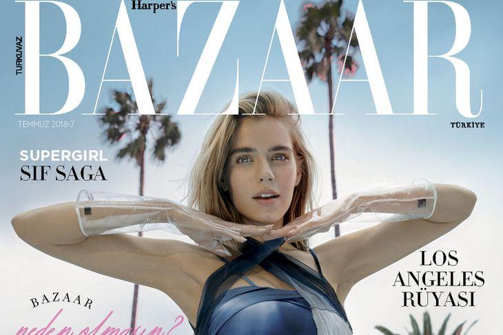 Sif Saga prýðir forsíðu nýjasta Harper's Bazaar í Tyrklandi.