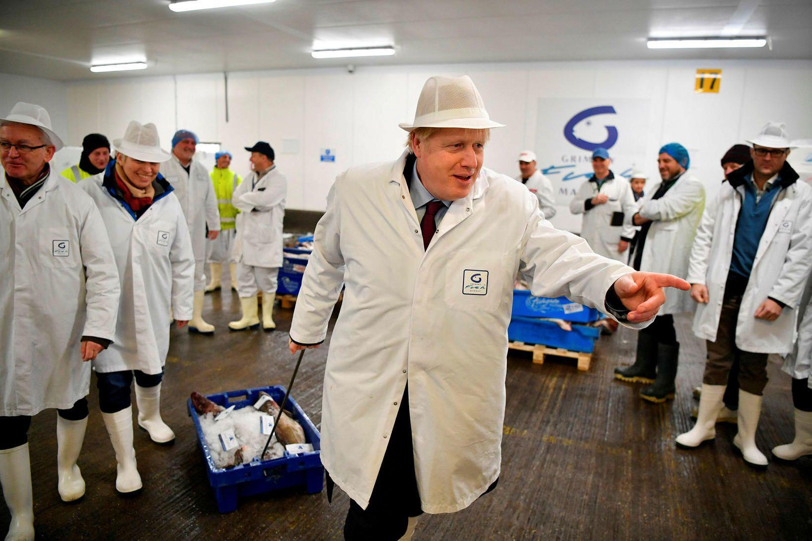 Boris Johnson forsætisráðherra á ferð og flugi í aðdraganda þingkosninga. …