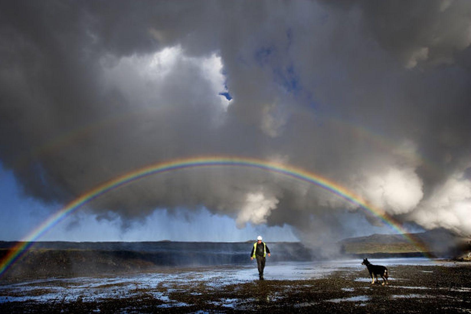 Orkuveitan hefur borað rannsóknarborholur vegna Hverahlíðarvirkjunar.