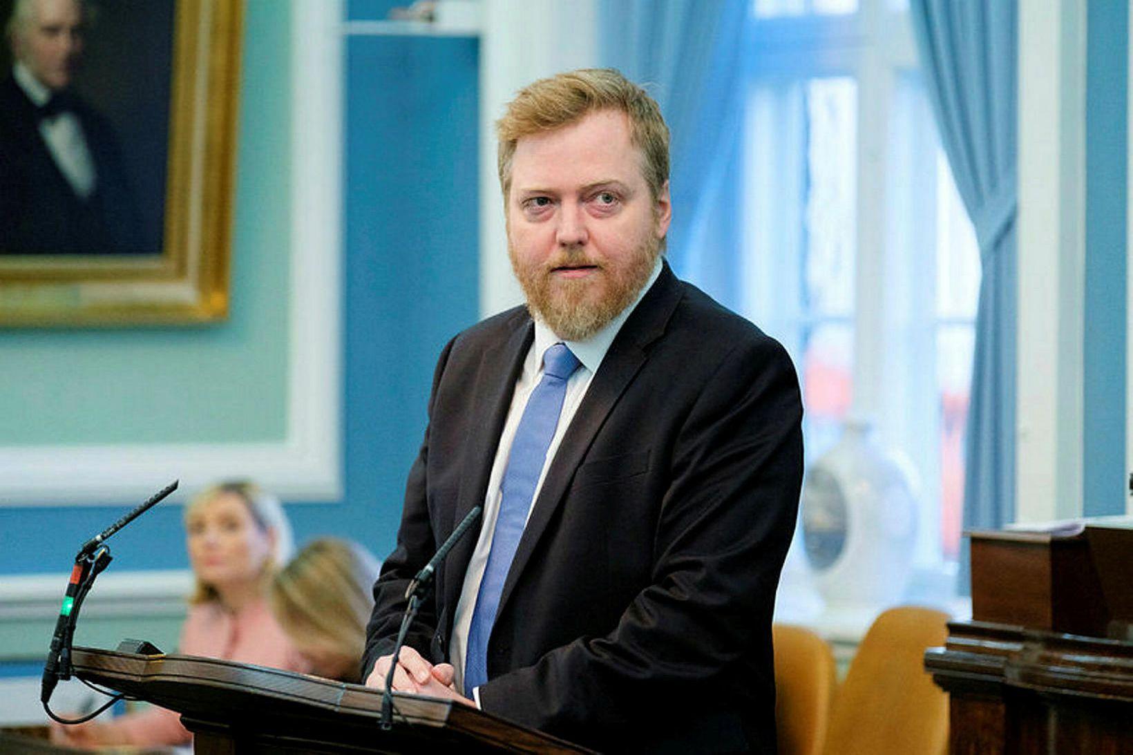 Sigmundur Davíð Gunnlaugsson þingmaður Miðflokksins, furðaði sig á skipan starfshóps …