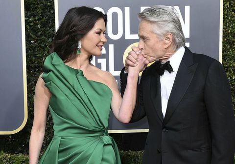 Catherine Zeta-Jones og Michael Douglas eiginmaður hennar.