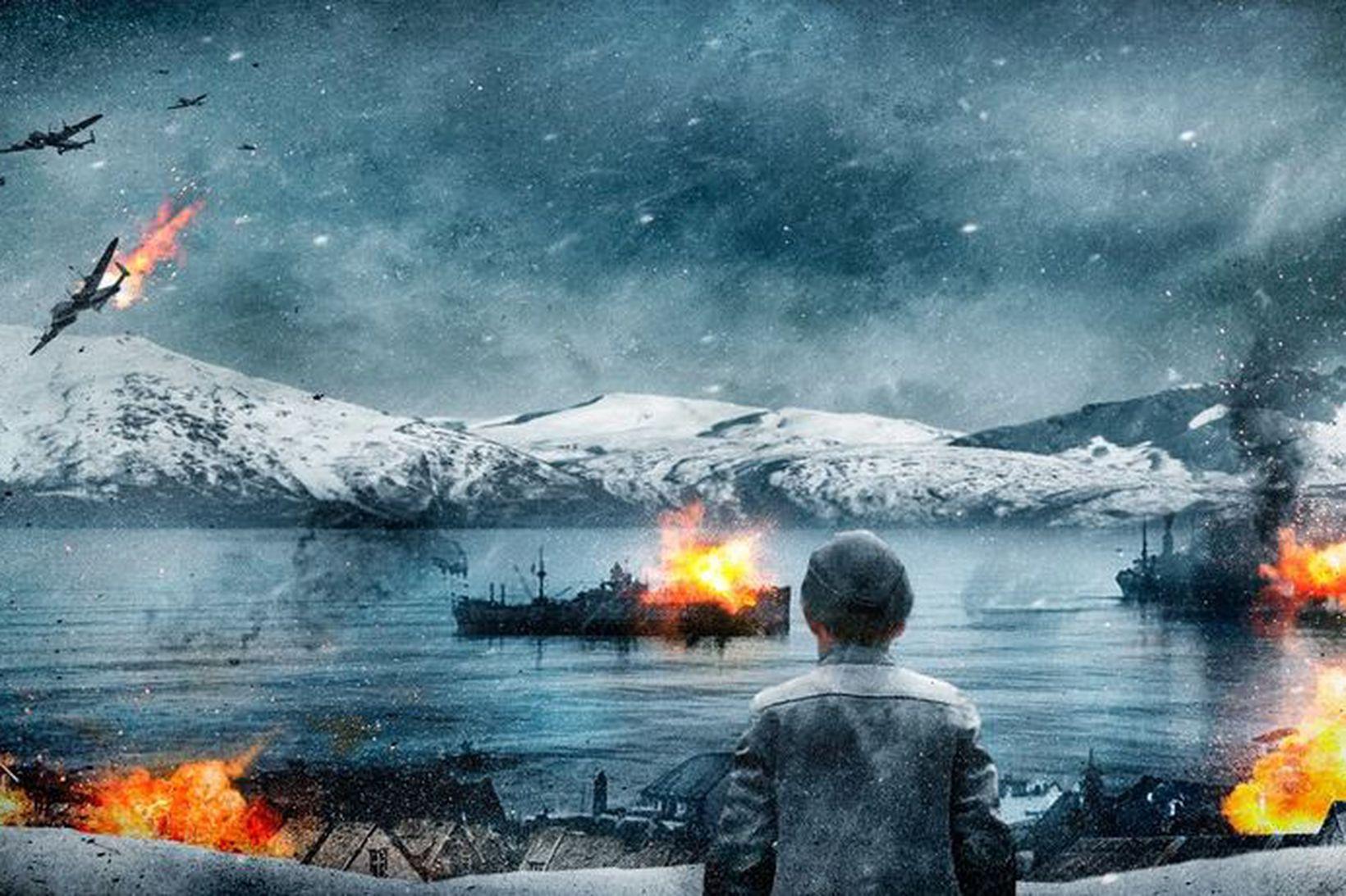 Úr kynningarefni kvikmyndarinnar um orrustuna um Narvik. Norðmenn vörðu bæinn …