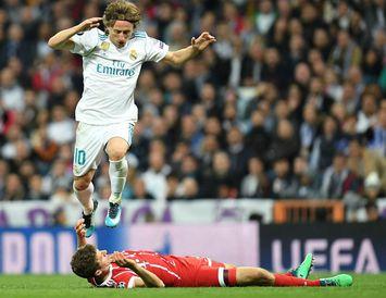 Luka Modric í leik með Real Madrid gegn Bayern Müchen.