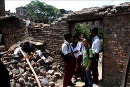 Börnin í Nepal aftur í skólann