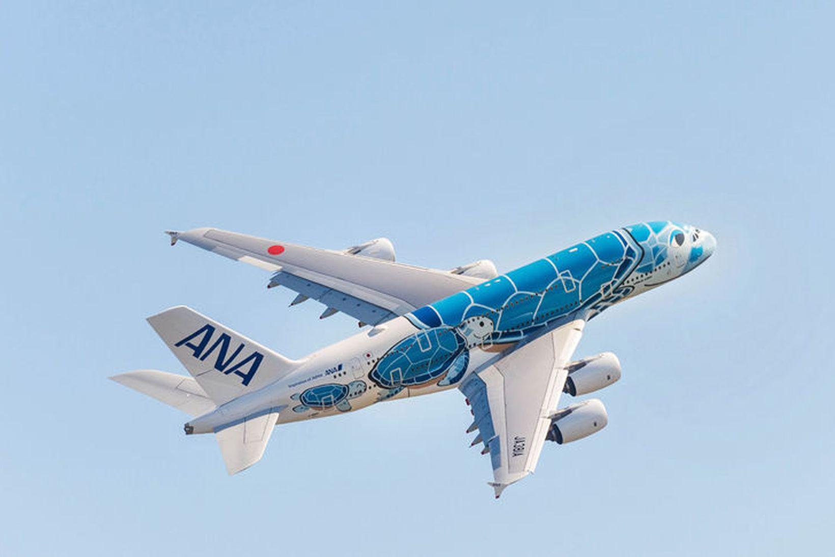 A380. Langstærsta farþegaþota heims. Fullhlaðin vegur vélin 560 tonn.