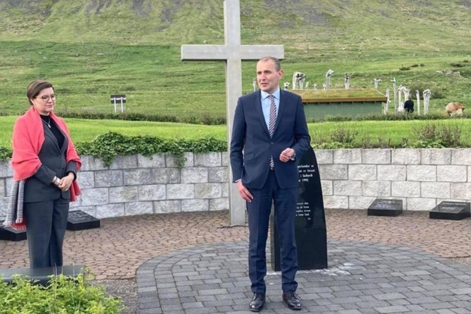 Eliza Reid forsetafrú og Guðni Th. Jóhannesson forseti Íslands við …