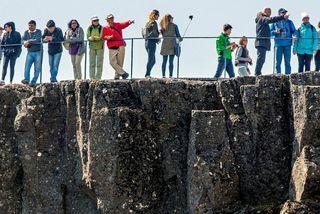 Bandarískum ferðamönnum hefur fjölgað hér á landi.