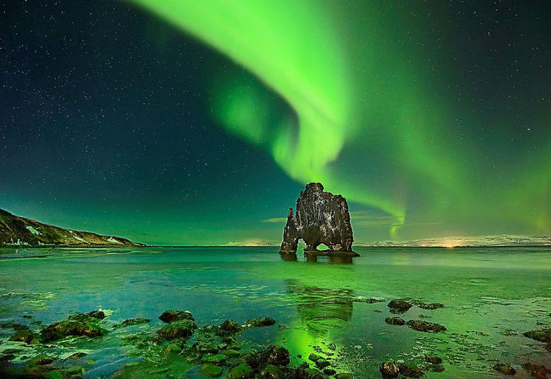 Northern Lights in Iceland's winter skies are a breathtaking sight.