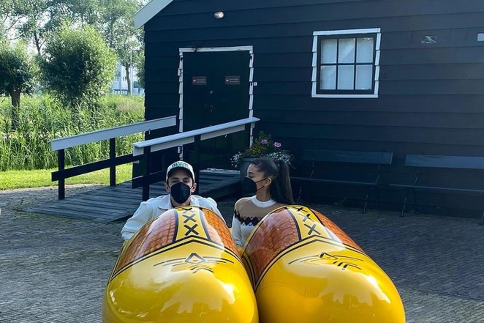 Ariana Grande og Dalton Gomez í Hollandi.