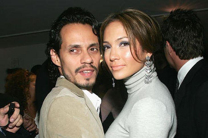 Jennifer Lopez með fyrrverandi eiginmanni sínum, Marc Anthony. Of mikil ...