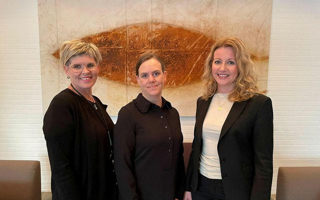 Frá vinstri: Halla Benediktsdóttir, Herdís Steingrímsdóttir og Helga Hauksdóttir.