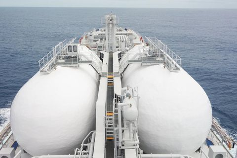 Specially designed vessels will transport the carbon dioxide.