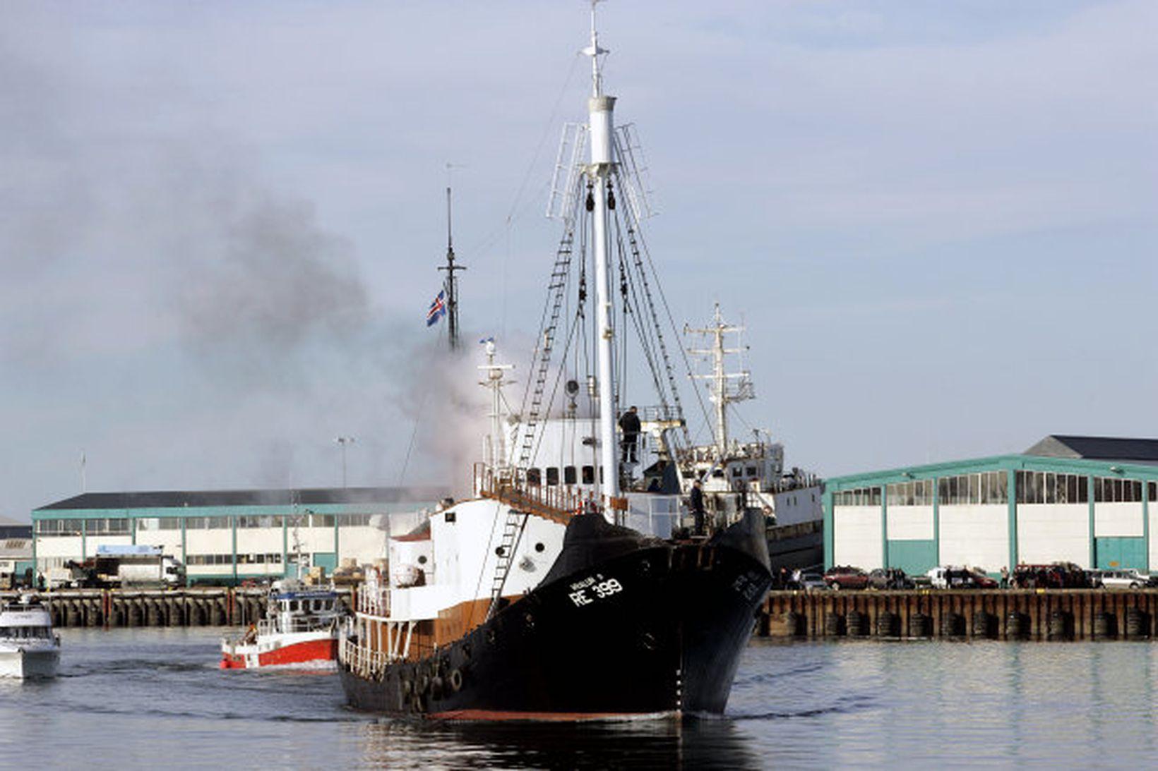 Icelandic whaling ship.