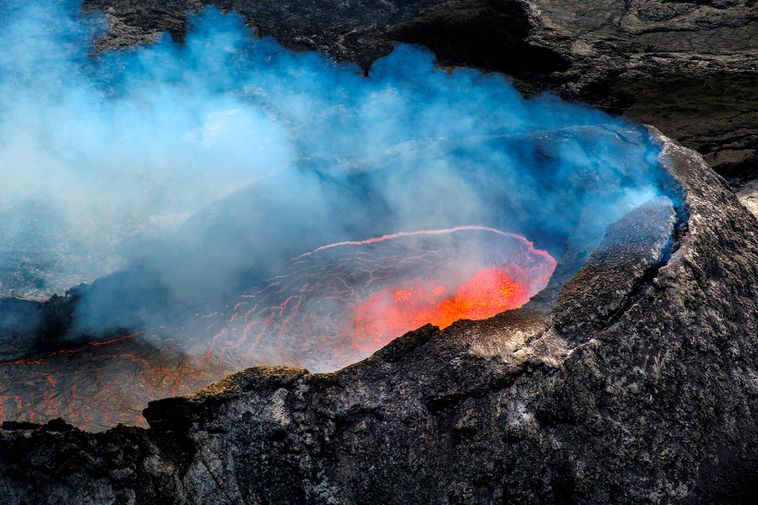 From the eruption site by Fagradalsfjall, Southwest Iceland.