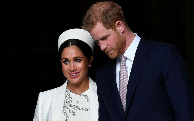Meghan og Harry eru hertogahjónin af Sussex.