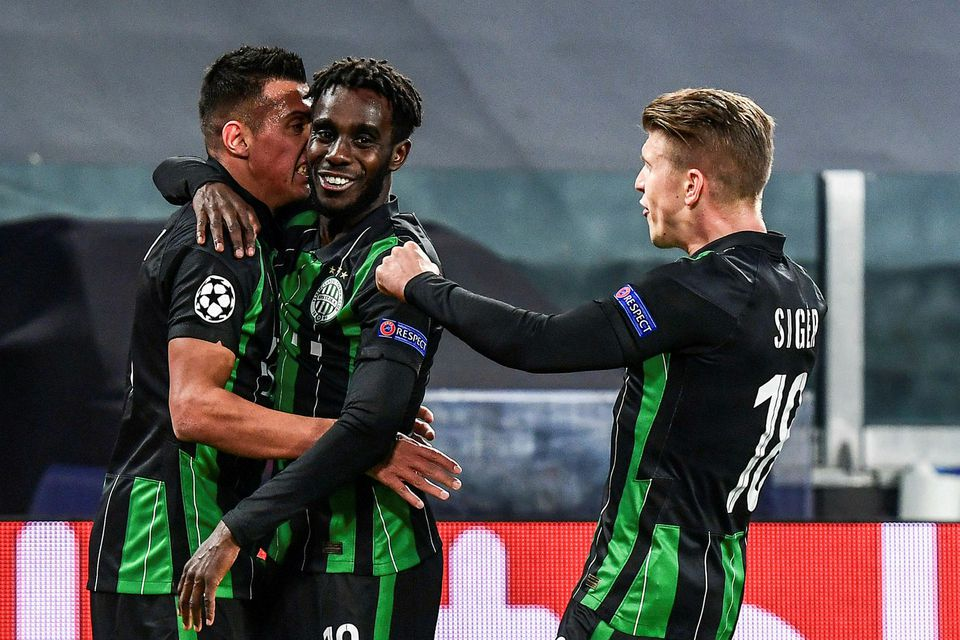 Ferencváros komst óvænt yfir á móti Juventus.