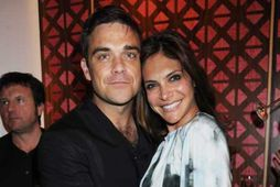 Robbie Williams og Ayda Field.