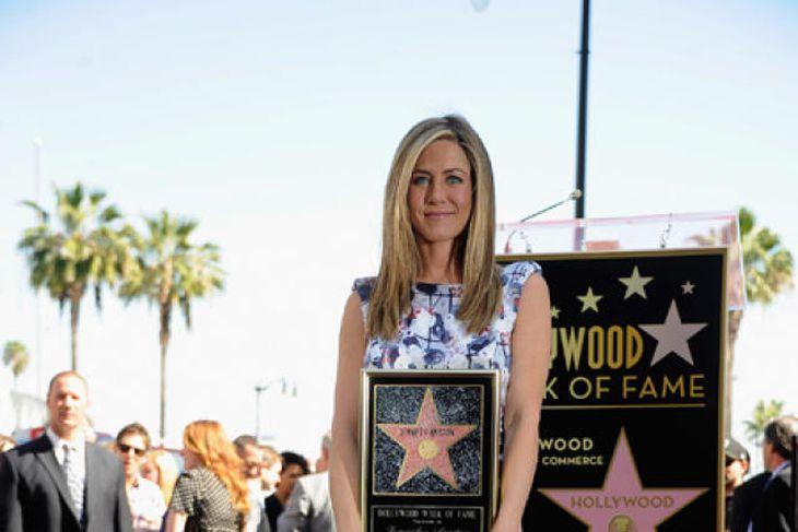 Stjarna Jennifer Aniston skín skært.