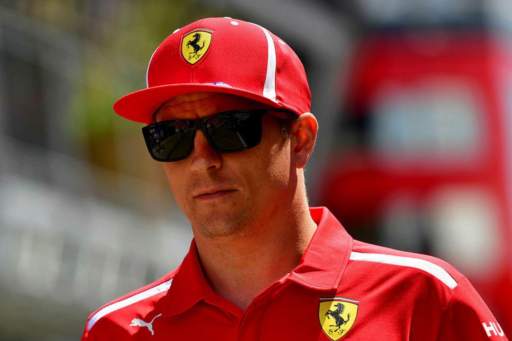 Kimi Räikkönen klæðist ekki lengur Ferrarifötum í Búdapest.