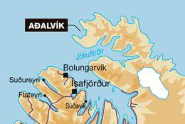 Slysið varð skammt frá Aðalvík á Ströndum.