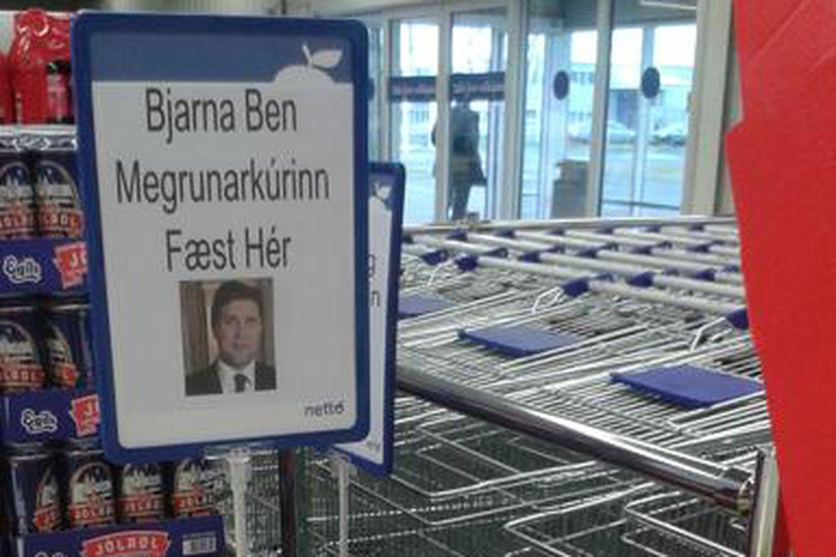 Í Nettó er hægt að kaupa inn samkvæmt Bjarna Ben …